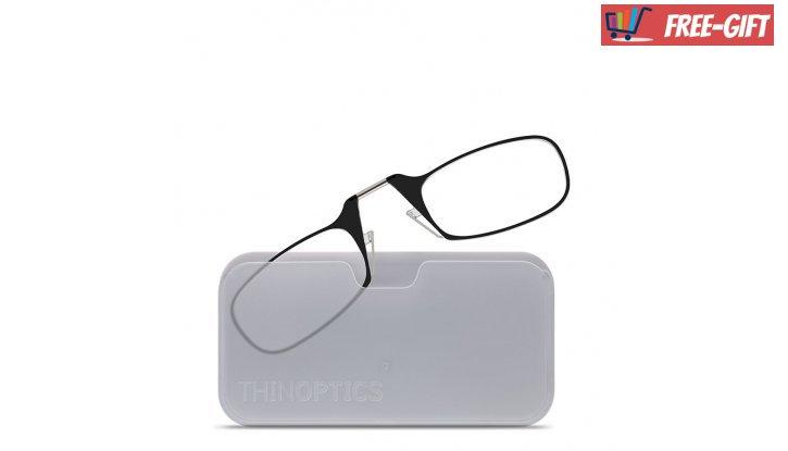 Очила по модел ThinOptics,  за четене от +1.0 до +2.5 (Черни) снимка #2