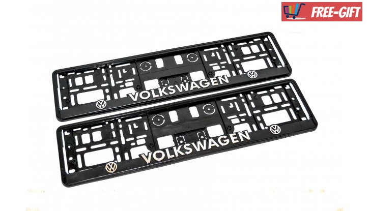 Рамка за номер на автомобил Volkswagen снимка #3