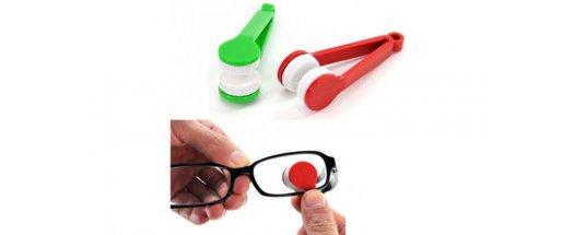 Компактен уред за почистване на стъклата на вашите очила - 3  броя