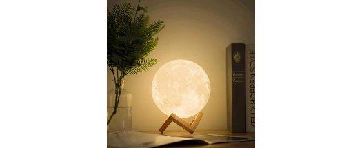 3D Led лампа и аромадифузер с формата на Луна  снимка #3