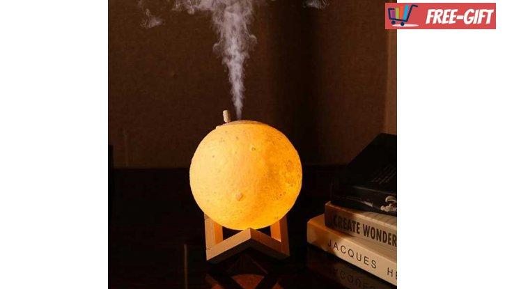 3D Led лампа и аромадифузер с формата на Луна  снимка #1