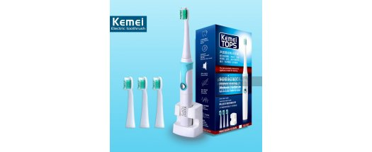 Комплект Електрическа Четка за Зъби с 4 Глави Kemei Tops снимка #0