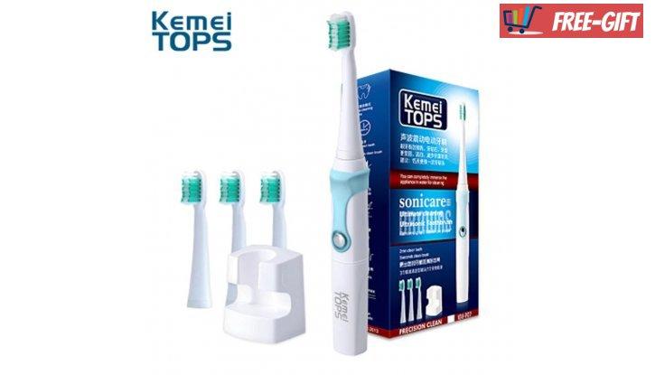 Комплект Електрическа Четка за Зъби с 4 Глави Kemei Tops снимка #2