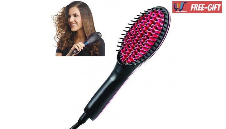 ПРОМО! Четка за изсушаване и изправяне на коса Fast Hair Straightener снимка #3