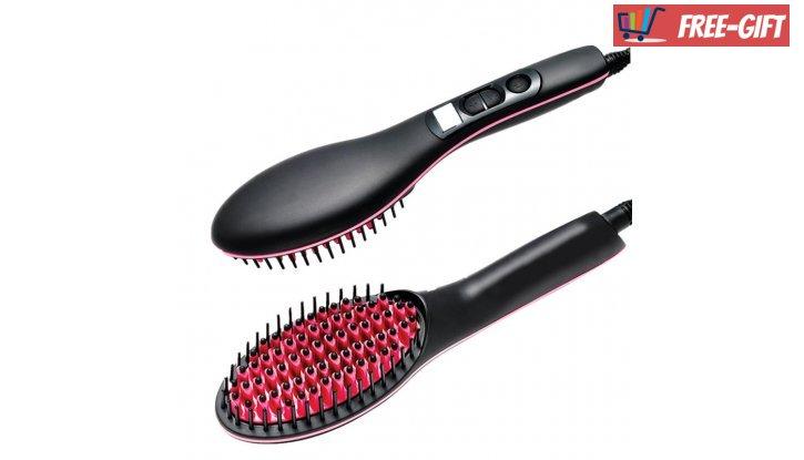ПРОМО! Четка за изсушаване и изправяне на коса Fast Hair Straightener снимка #1