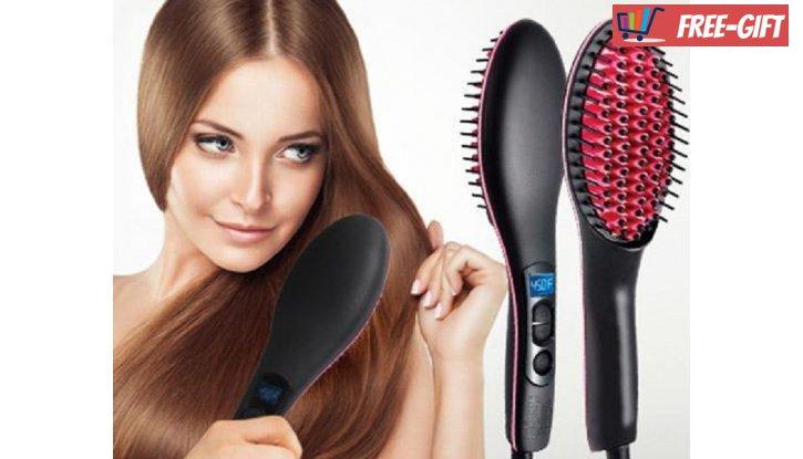 ПРОМО! Четка за изсушаване и изправяне на коса Fast Hair Straightener снимка #0