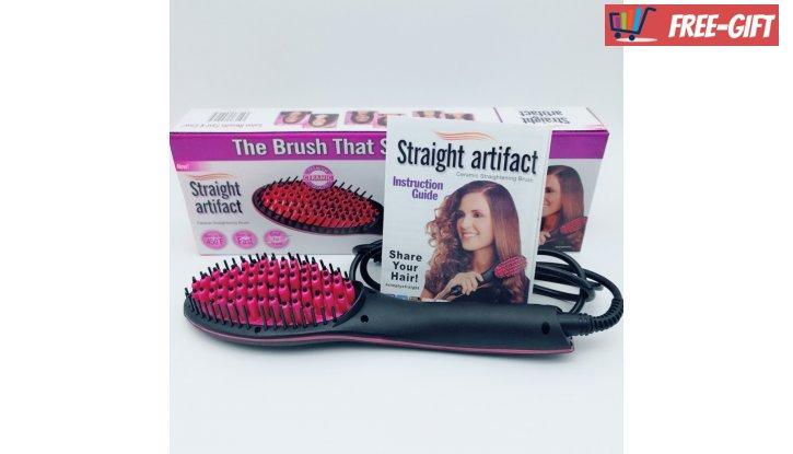 ПРОМО! Четка за изсушаване и изправяне на коса Fast Hair Straightener снимка #2