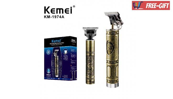 Електрическа машинка за подстригване и оформяна на брада - Kemei  KM-1974 A снимка #2