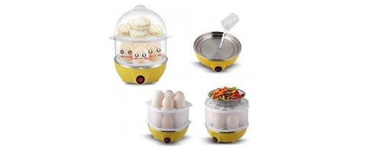 Яйцеварка за 14 броя яйца, машинка перфектно сварени яйца снимка #1