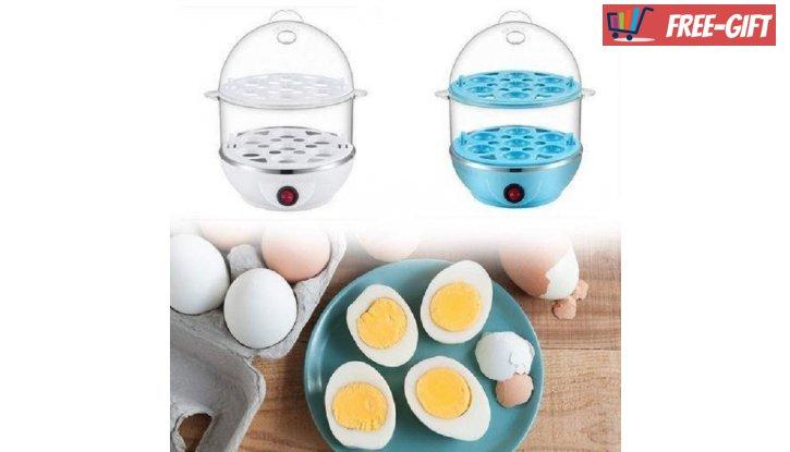 Яйцеварка за 14 броя яйца, машинка перфектно сварени яйца снимка #2