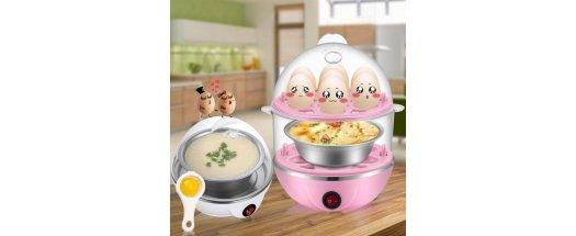 Яйцеварка за 14 броя яйца, машинка перфектно сварени яйца снимка #0