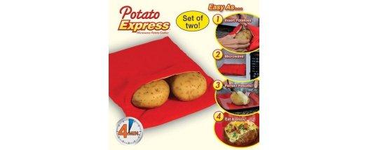 Джоб за печене на картофи в микровълнова фурна снимка #0