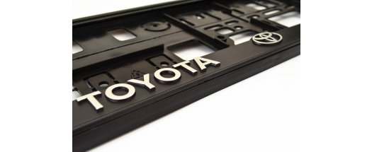 Рамки за номер на автомобил Toyota снимка #0