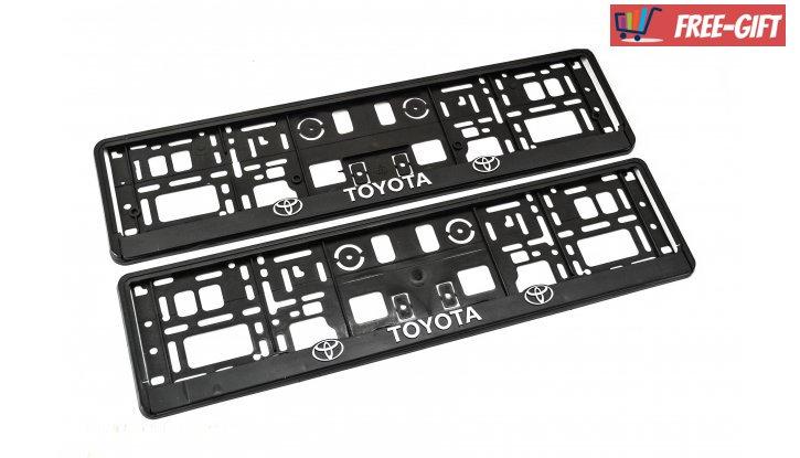 Рамки за номер на автомобил Toyota снимка #2