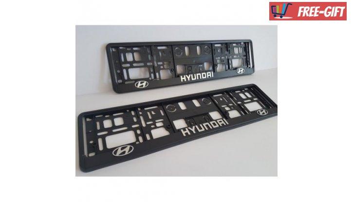 Рамка за номер на автомобил Hyundai снимка #0