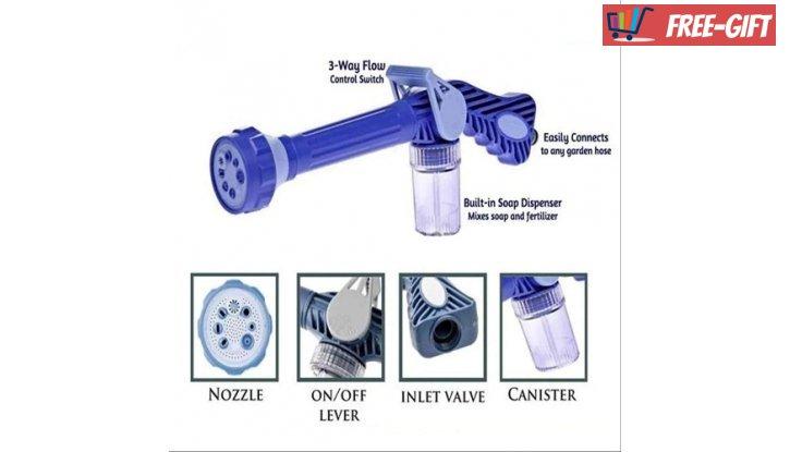 Накрайник за маркуч Ez Jet Water Cannon с 8 различни начина на пръскане снимка #1
