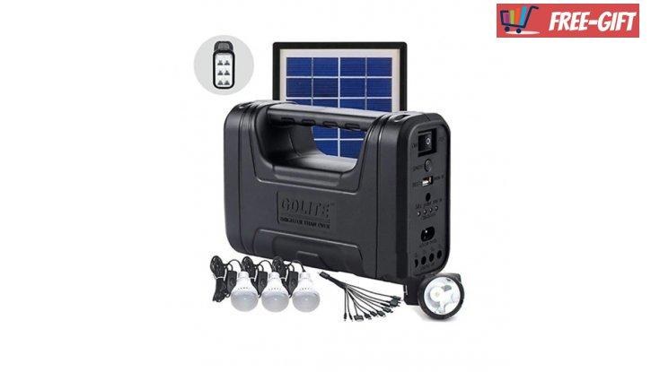 Комплект соларна осветителна система GDLITE GD-8007,Черен снимка #0