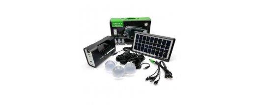 Комплект соларна осветителна система GDLITE GD-8007,Черен снимка #2